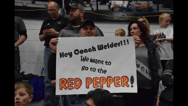 hey coach we want red pepper
