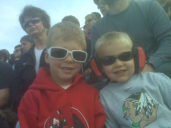 Young race fans at the River Cities Speedway undoubtedly cheering for Jordan Graham in the #99 Red Pepper car
