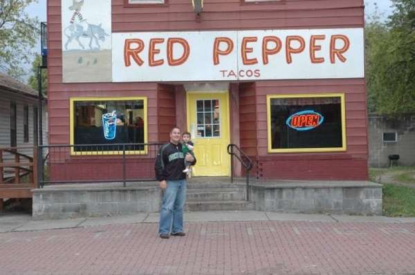 Our 8th month old son on his first (and certainly not his last!) Red Pepper run for Homecoming in 2009.