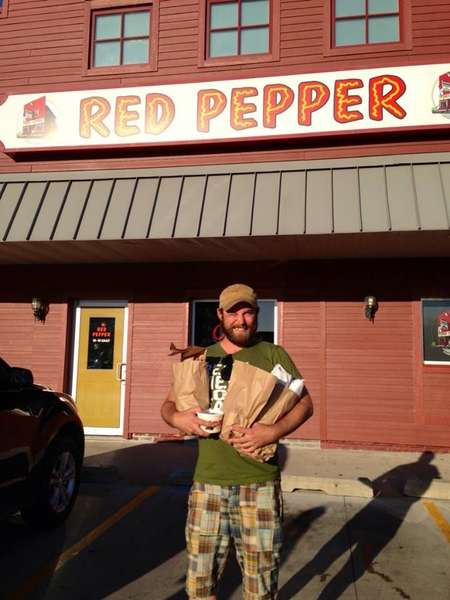 This is My brother Anthony. We are from Devils Lake, ND but he lives in Philadelphia now and I live in Fargo, ND. He flew home over the 4th of July this year and his first request when he got off of the plane was to go to Red Pepper. It is now September and his birthday is the 11th and what does he ask for?? None other than a grinder kit to be shipped to him! We LOVE The Red Pepper! -Anthony and Danielle Phelan xoxo