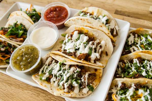 Beef or Chicken Tacos (3)
