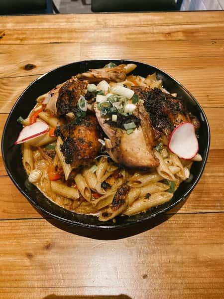 Jamaican Jerk Chicken Rasta Pasta