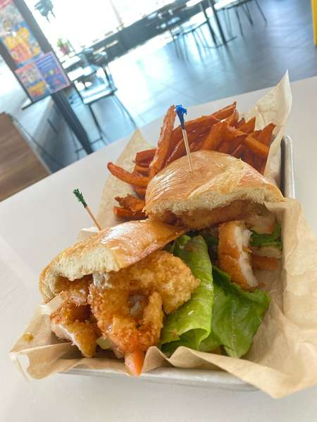 Fried Prawn Po Boy