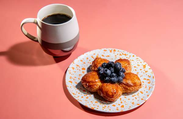 Pastry and a 12 Oz Coffee