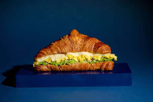 Scrambled Egg, Avocado and Cheese Breakfast Croissant