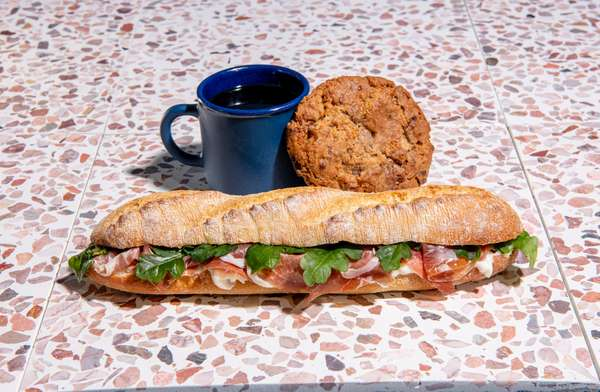 Sandwich or Salad + a Cookie + a Coffee