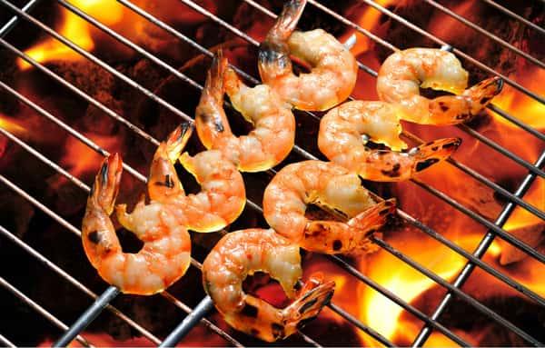 Griddled baby shrimp