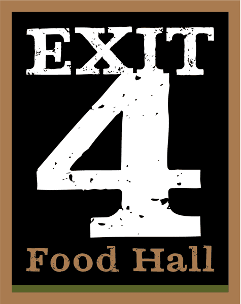 exit 4 food hall logo