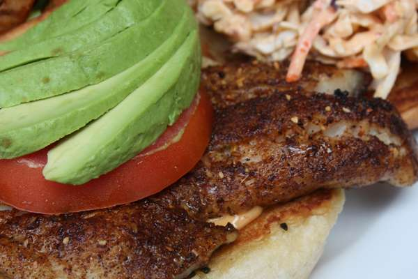 Ancho Grilled Grouper Sandwich