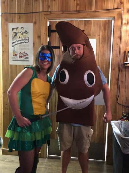 couple in halloween costume