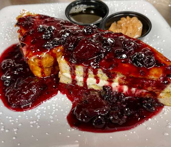 Mixed Berry Stuffed French Toast