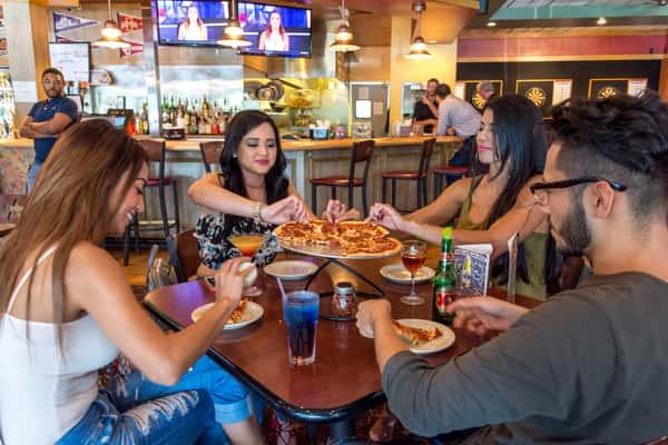customers enjoying menu items