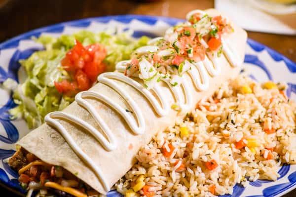 Enchilada Style Burrito