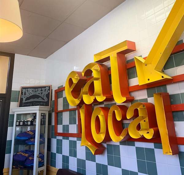 Eat local sign