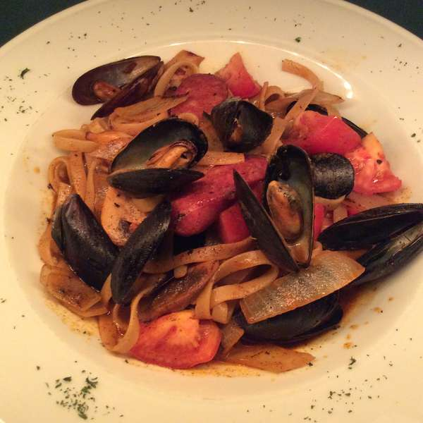 Spicy Mussels with Andouille Sausage