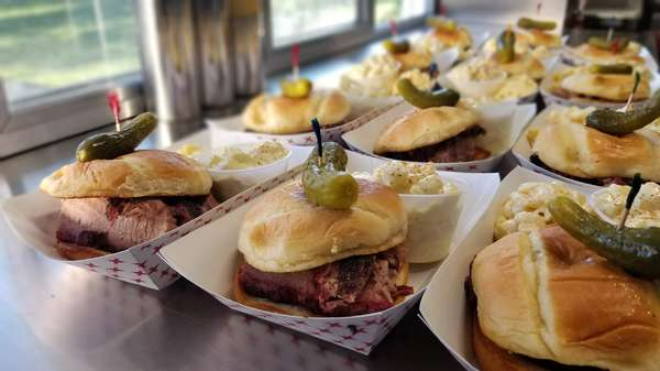 Pulled pork sandwiches