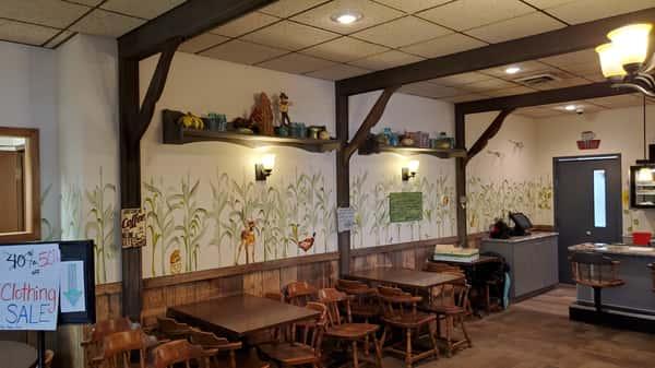 interior walls and tables