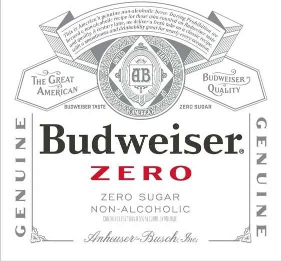 Bud Zero NA (non-alcoholic), bottle