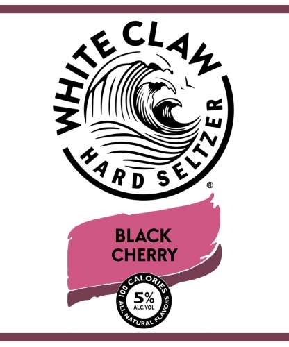 White Claw Hard Seltzer Black Cherry, Can