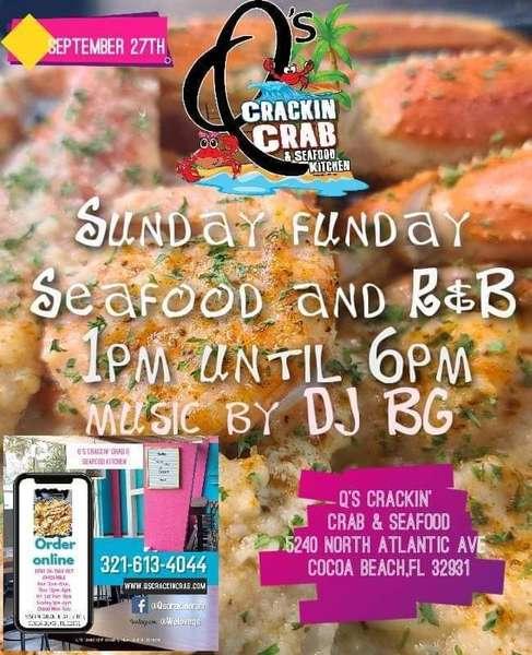 Sunday Funday At Q S Crackin Crab Q S Crackin Crab Seafood Kitchen Seafood Restaurant In Cocoa Beach Fl