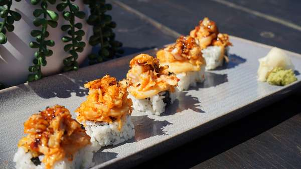 Plated Sushi