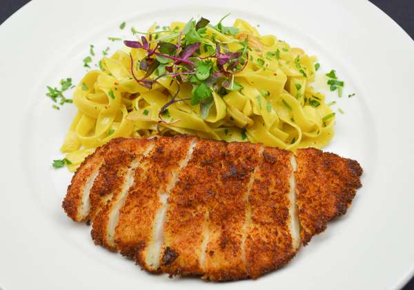 Chicken Milanese (Breaded Chicken) Pasta Combo Meal