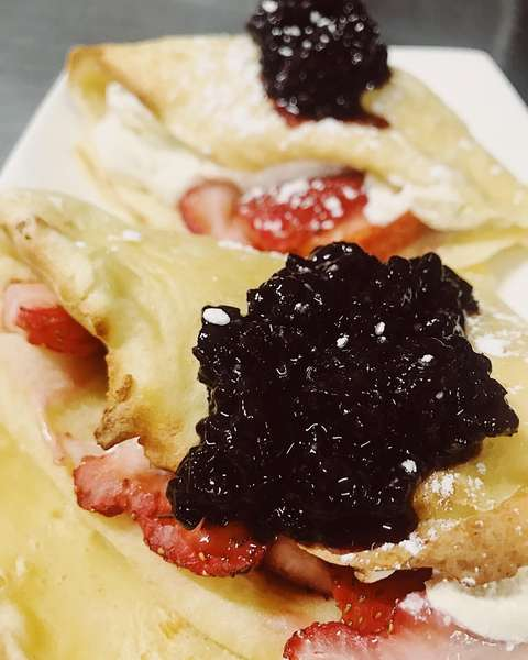 Ricotta and Fresh Fruit Crepes