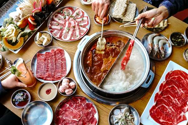 cooking meats in hot pot