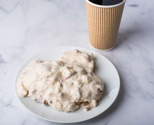 Buttermilk Biscuits with Country Gravy