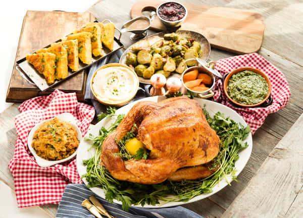 Thanksgiving spread from B&B