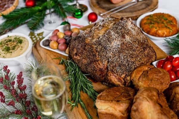 christmas food spread
