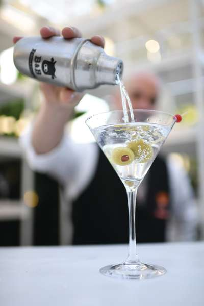 Cocktail being poured