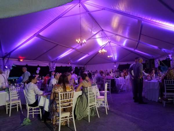 Tent Reception with Uplighting