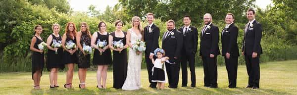 Field Wedding Party