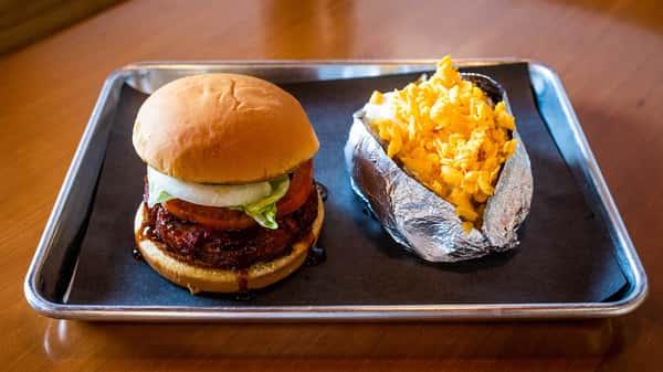Smokey Burger Plate