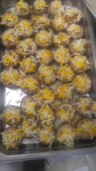 Chorizo Stuffed mushrooms catering