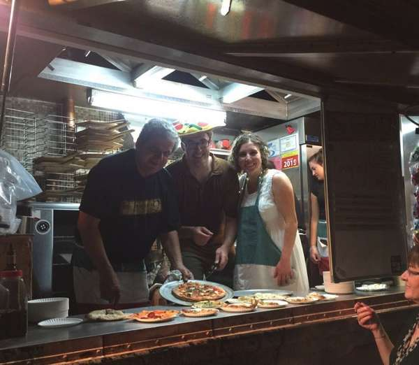 A wood fired pizza party is a fun, unique alternative!