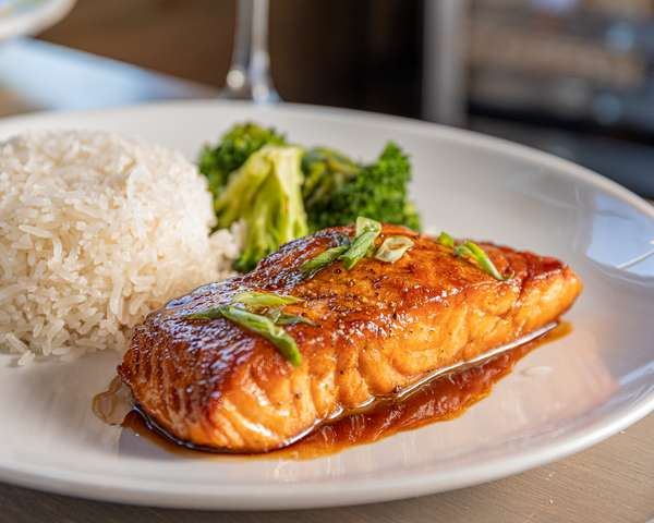 Soy and Maple Glazed Salmon