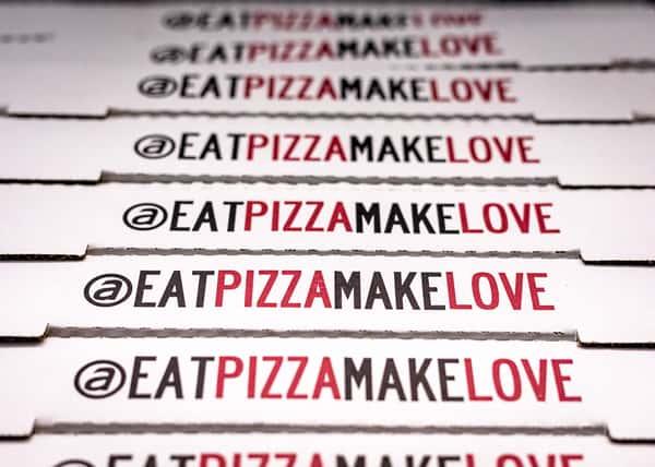 boxes eat pizza make love