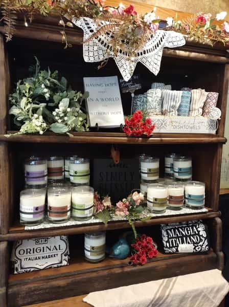 market shelf