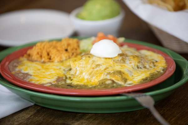 Green Chile Chicken Enchiladas