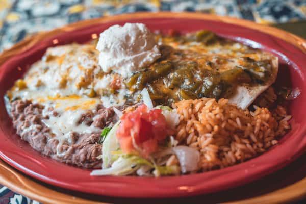 Green Chile Chicken Burrito