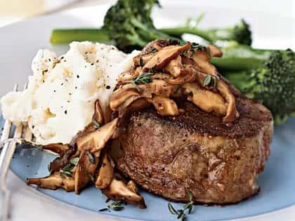 Beef Medallions w/ Mushroom Demi Glace