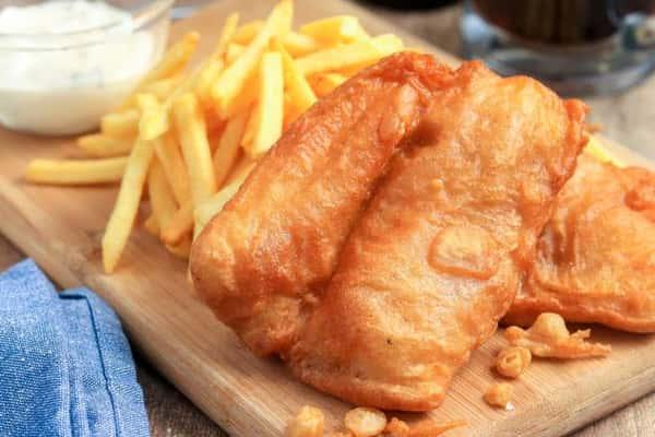 Lemon Battered Fish & Chips