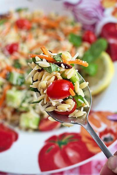 Chopped Vegetable and Orzo Salad
