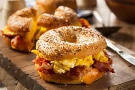 Hot Breakfast Sandwich Buffet - Ciabatta w Gouda & Bacon