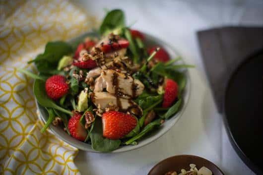 Spinach, Chicken, & Berries Salad