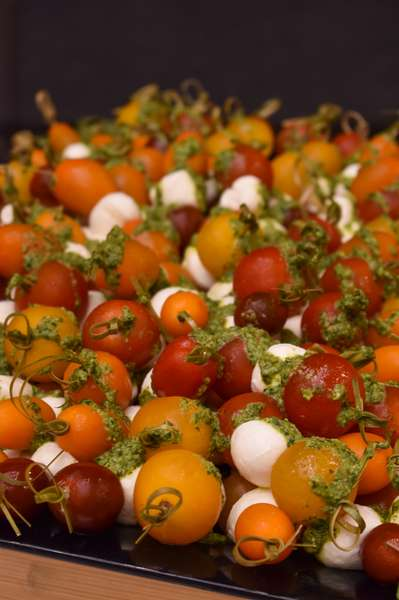 Caprese Skewers at Catering Event