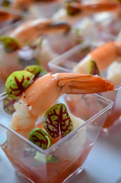 Shrimp Gazpacho at Catering Event
