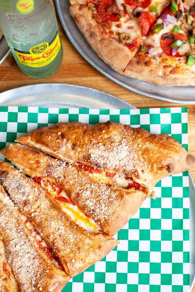 calzone and pizza